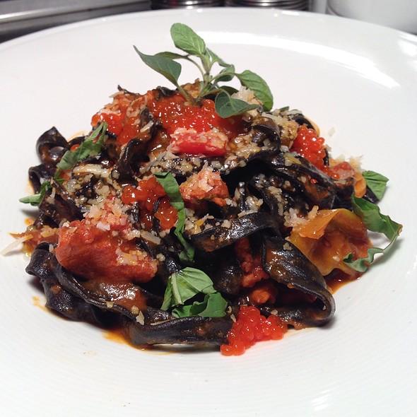 Black Fettuccini With Chorizo And Chili Caviar - The Grille Fashion Cuisine, Wellington, FL
