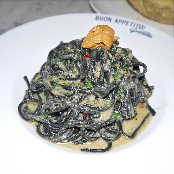 Squid Ink Linguine, Ricci di Mare - Giovanni Rana Pastificio & Cucina, New York, NY