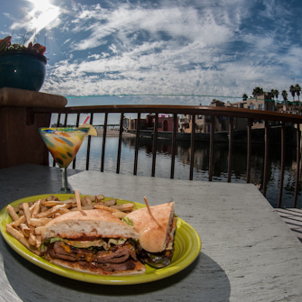 Amazing Smoked Tri Tip Sandwich with House Made Fresh French Fries - Margaritaville - Capitola, Capitola, CA