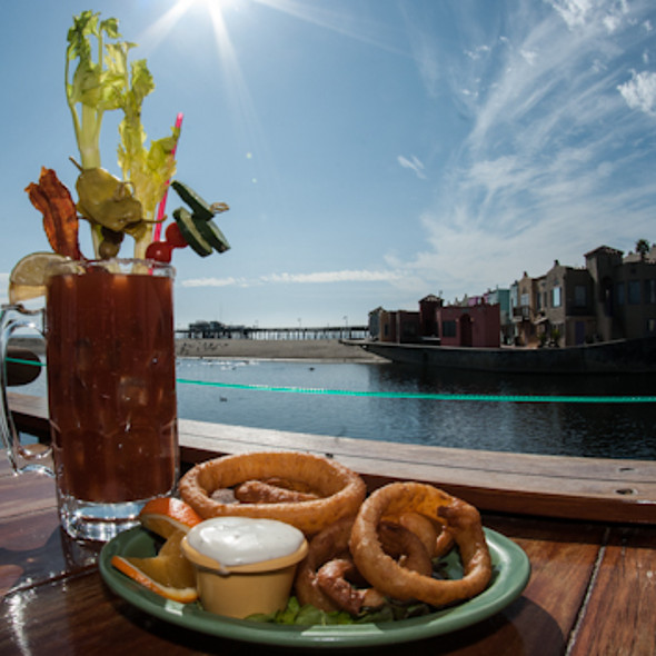 Home Made Onion Rings and a to Die For Bloody Mary - Margaritaville - Capitola, Capitola, CA