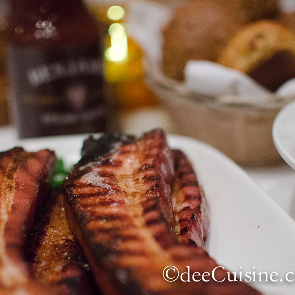 Extra Thick Canadian Bacon - Benjamin Steakhouse - Westchester, White Plains, NY