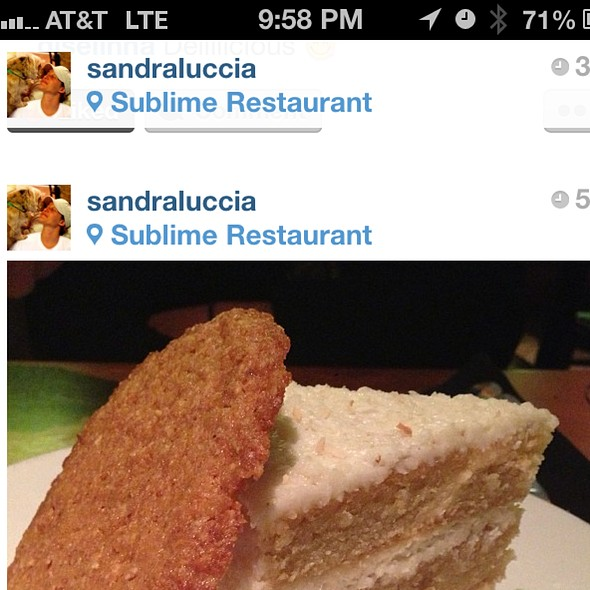 Coconut Cake - Sublime, Fort Lauderdale, FL