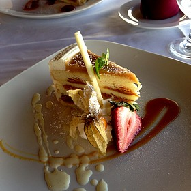 Salted Caramel Cake - Top of Vancouver Revolving Restaurant, Vancouver, BC