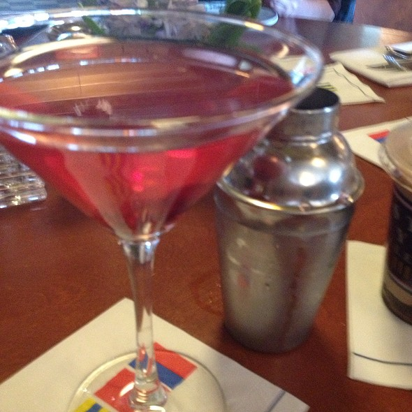 Cranberry Apple Martini - East Bay Grille, Plymouth, MA