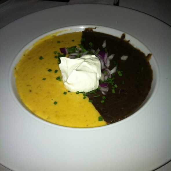 Black Bean And Cheddar Cheese Soup - The Charcoal Room - Santa Fe Station Hotel & Casino, Las Vegas, NV