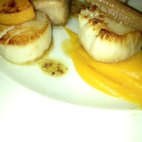 Sea Scallops With Pork Belly - Blink Restaurant, Calgary, AB