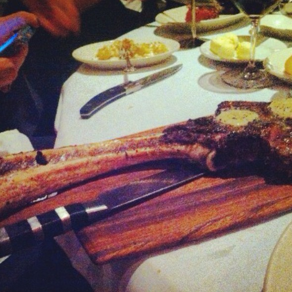 22 Oz Cowboy Longbone W/ Black Truffle Butter - Nick & Sam's Steakhouse, Dallas, TX