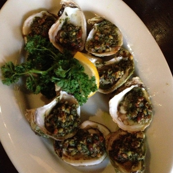 Grilled Pesto Oysters - Moon River Brewing Company, Savannah, GA