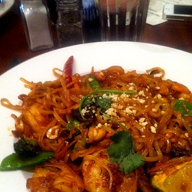Pad Thai Noodles w/ Shrimp - Bracco World Cafe & Island Bar, Sioux Falls, SD