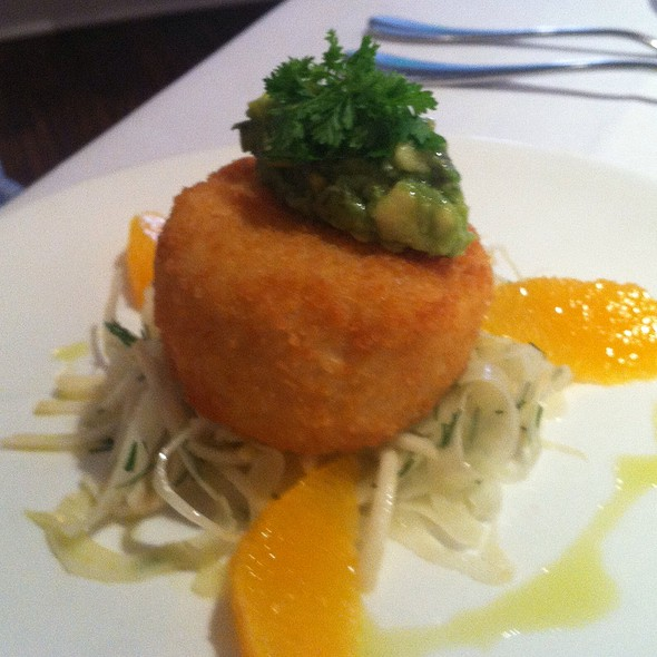 Scottish Salmon Potato Cake - The North Fork Table & Inn, Southold, NY