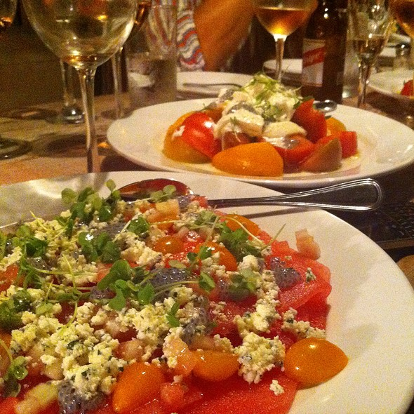 Heirloom Tomato And Watermelon Salad - The Restaurant at The Surf Lodge, Montauk, NY