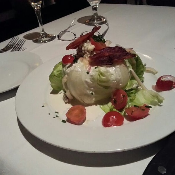 Iceberg Lettuce Wedge With Tomato And Blue Cheese Dressing - Eddie V's - City Centre, Houston, TX