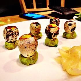 Quail Egg Shooters - Sushi Zushi of 5th Street, Austin, TX