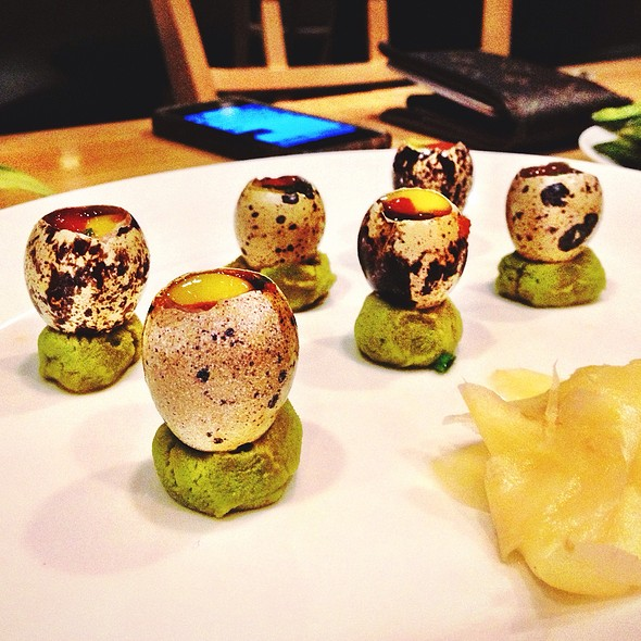 Quail Egg Shooters - Sushi Zushi of 5th Street, Austin, TX