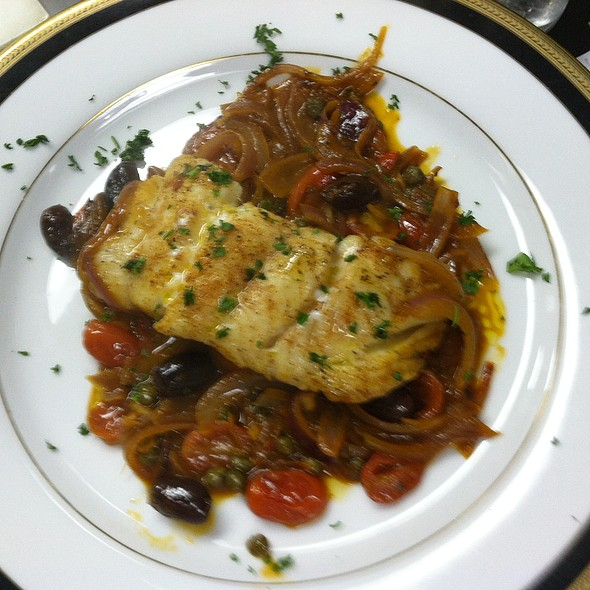 Cod Fish Fillet in a Calabrese sauce - Cafe Mezzanotte, Wilmington, DE