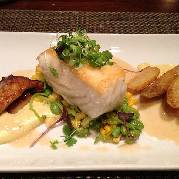 Catch Of The Day : Halibut With Coconut Potato, Cauliflower And Mushroom - Catch Restaurant Upstairs, Calgary, AB