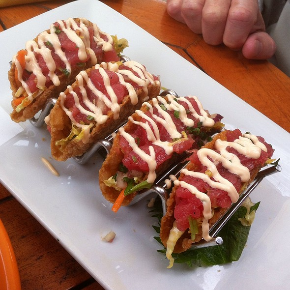 Tiny Ahi Tacos - Beachcomber Cafe - Crystal Cove, Newport Coast, CA