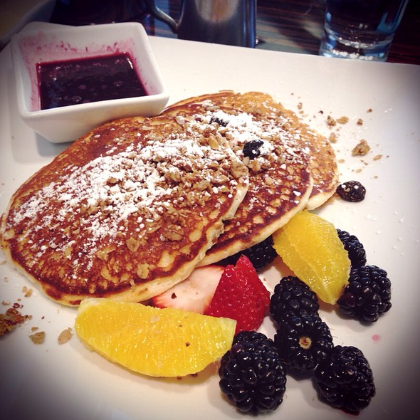 Blueberry Orange Granola Pancakes - Sauciety, Boston, MA
