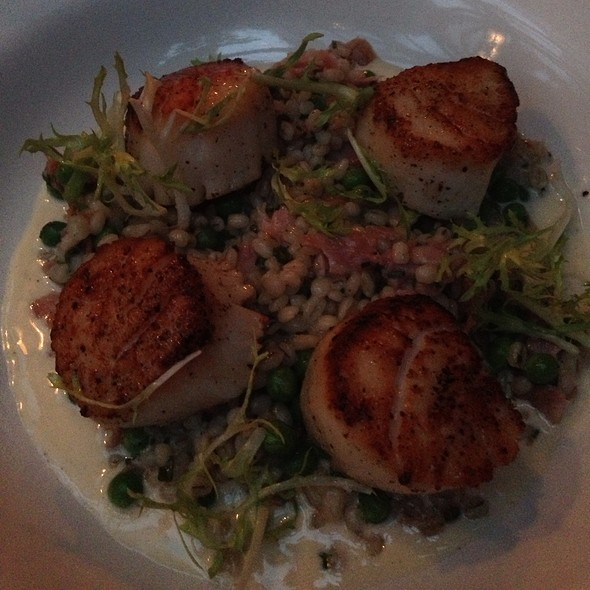 Pan Seared Sea Scallops Over Barley Risotto - The Waverly Inn, New York, NY