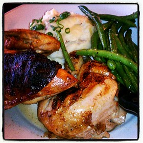 Herb Crusted Rotisserie Chicken - Bonfyre American Grille, Madison, WI