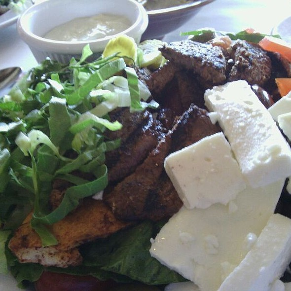 Mediterranean Steak And Cheese Over House Salad - Mazza - 9th and 9th, Salt Lake City, UT