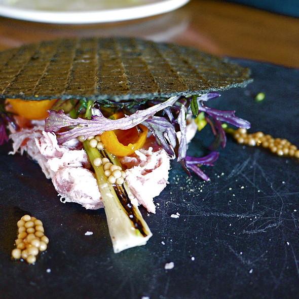 Duck Rillette, Charred Leeks, Kumquats, Charcoal Waffle - ink., West Hollywood, CA