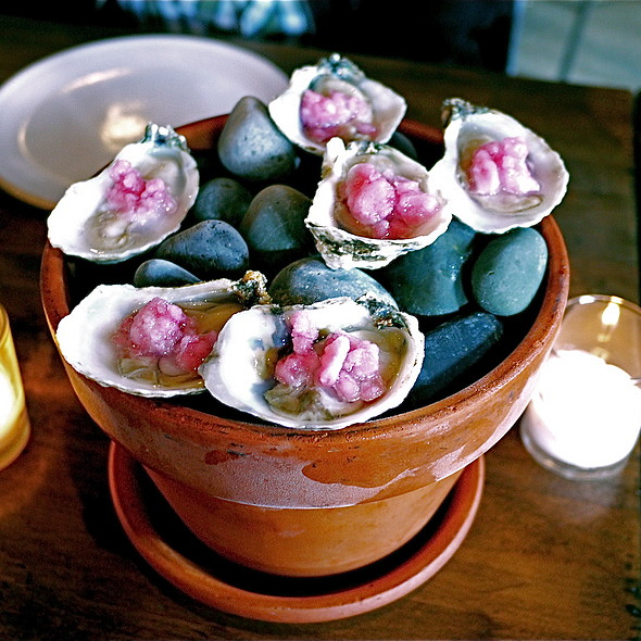 Misty Point Oysters, Mignonette Ice - ink., West Hollywood, CA