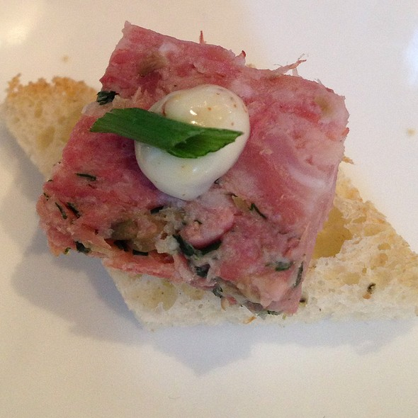 Housemade Pork Terrine On Crostini - Teatro Restaurant, Calgary, AB