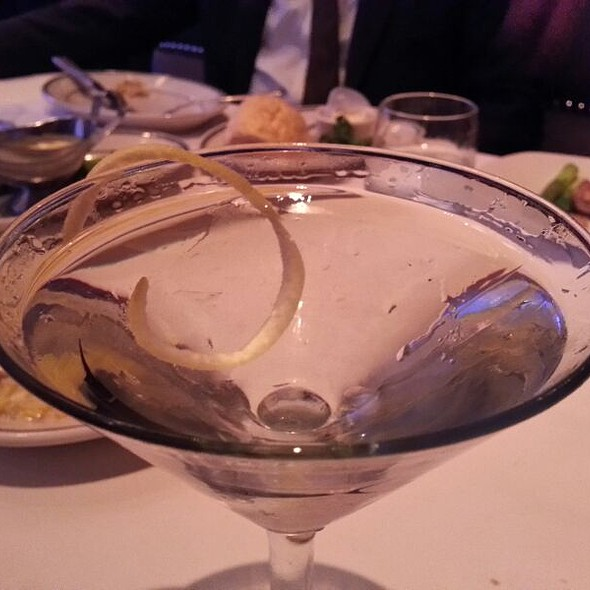 Bombay Sapphire With A Lemon Twist - Oceanaire Seafood Room - Indianapolis, Indianapolis, IN