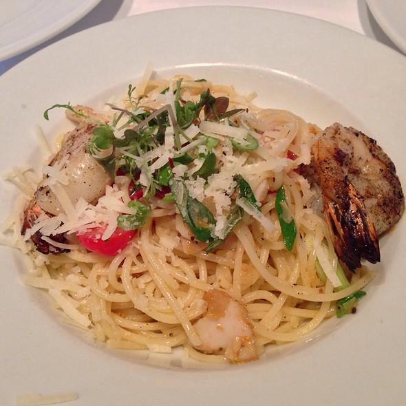 Seafood Spaghetti Aglio Olio  - Terra Restaurant, Thornhill, ON