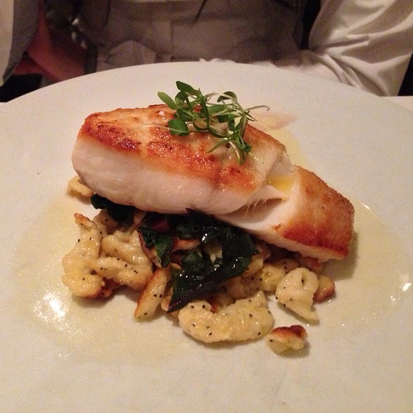 Poached Black Cod - Sassafraz, Toronto, ON