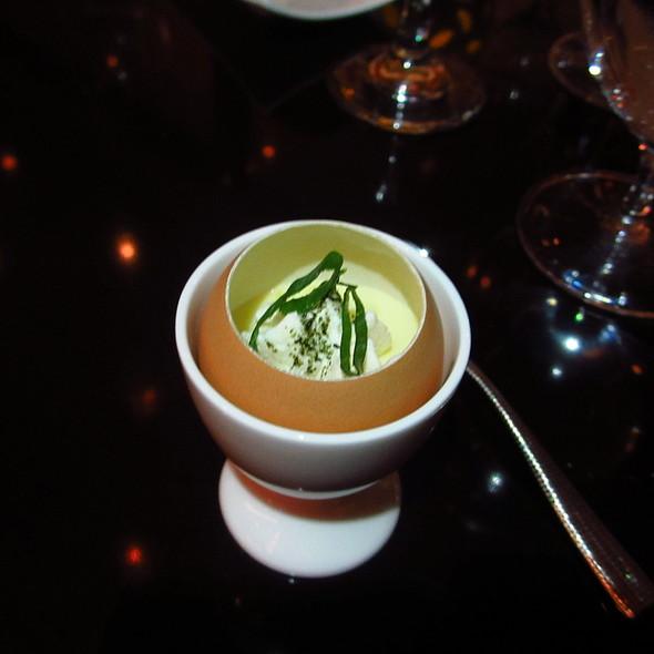 Amuse bouche - miso eggs custard - Lockwood Restaurant and Bar, Chicago, IL