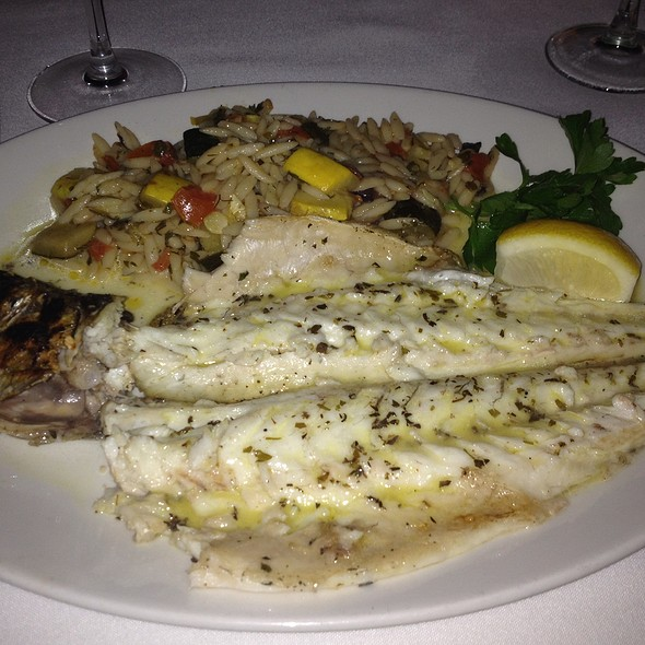 Grilled Branzino With Orzo - Periyali, New York, NY