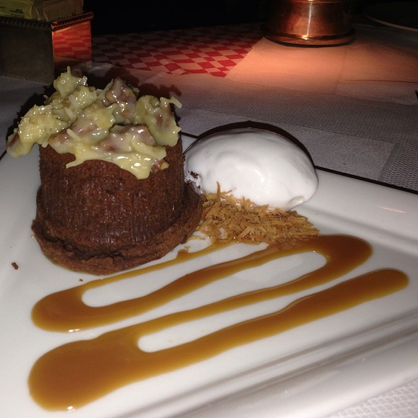 German Chocolate Cake With Chocolate Coconut Sorbet - 21 Club, New York, NY