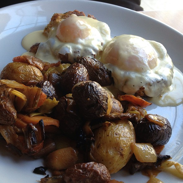 Crab Cakes Benedict - Sweet Grass Grill, Tarrytown, NY