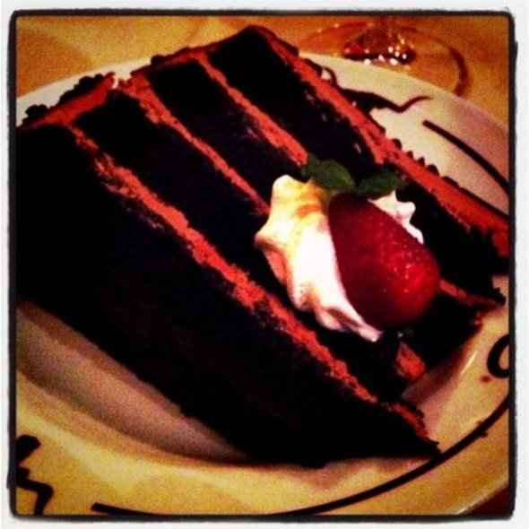Chocolate Mousse Cake - Y.O. Ranch Steakhouse, Dallas, TX