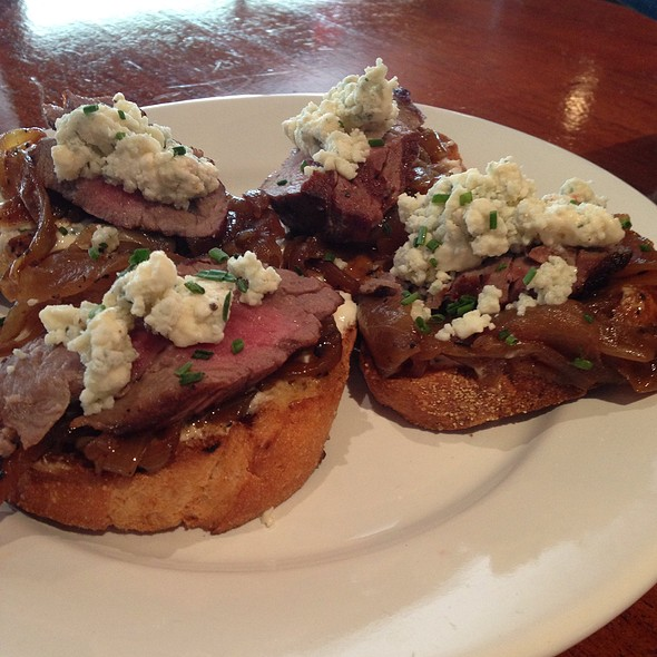 Smoked Beef Tenderloin On Crostini - Frank's Americana Revival, Houston, TX
