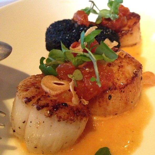 Seared Scallops With Potato Croquette - Boulevard, San Francisco, CA