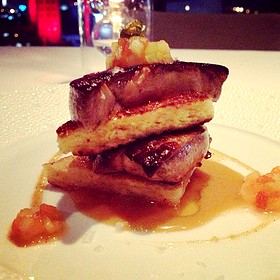 "My ""Down Island"" French Toast with Curacao Scented Foie Gras - Tuyo, Miami, FL"