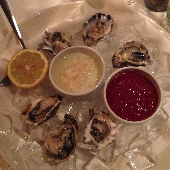 Kumamoto oysters - 555 East, Long Beach, CA