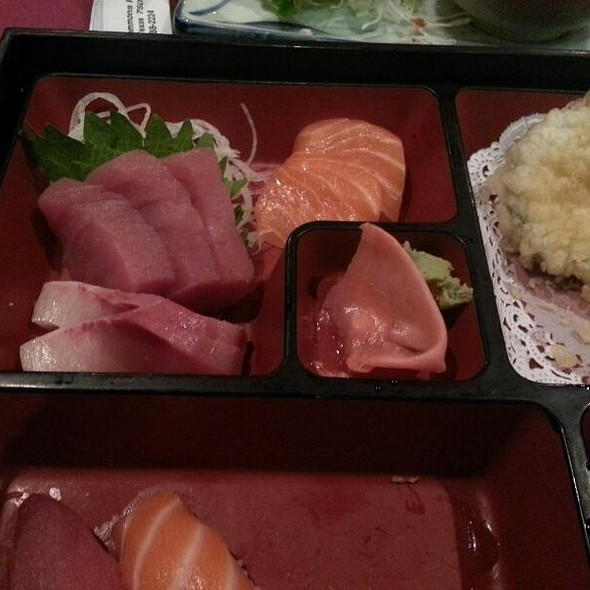 Sushi And Sashimi Bento Box - Jinbeh Japanese Restaurant, Irving, TX