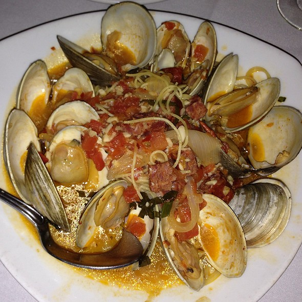 Clams Portuguese Over Capellini - Meritage - Warwick, East Greenwich, RI