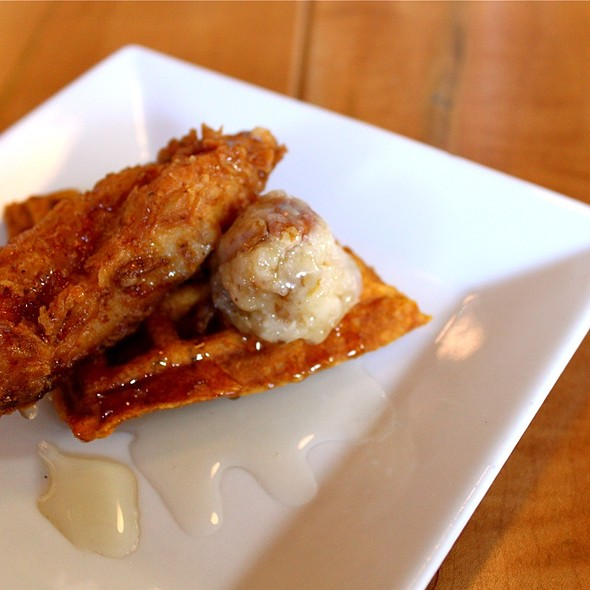 Fried Chicken and Waffles - Lowcountry Bistro, Charleston, SC