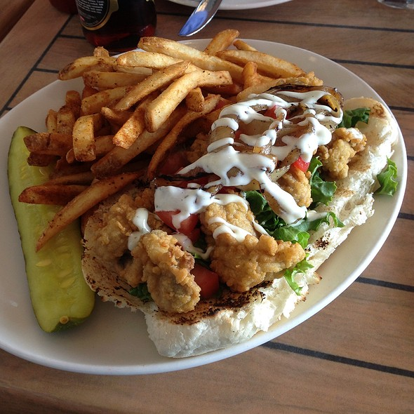 Oyster Po'boy - The Mooring Restaurant, Newport, RI