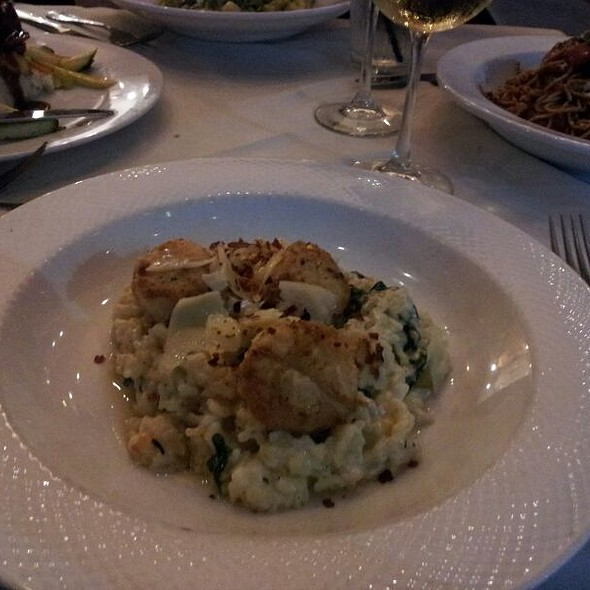 Truffle Risotto With Scallops - Mia Bella Trattoria - Green Street, Houston, TX