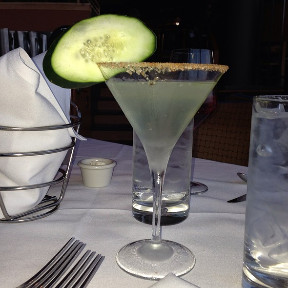 Spicy Cucumber Martini - Chart House Restaurant - Weehawken, Weehawken, NJ