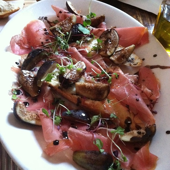 Proscuitto With Fig And Balsamic Reduction - Acqua at Peck Slip, New York, NY