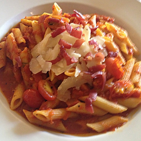 Penne Pancetta In Pomodoro Sauce - Waterzooi Belgian Bistro, Garden City, NY