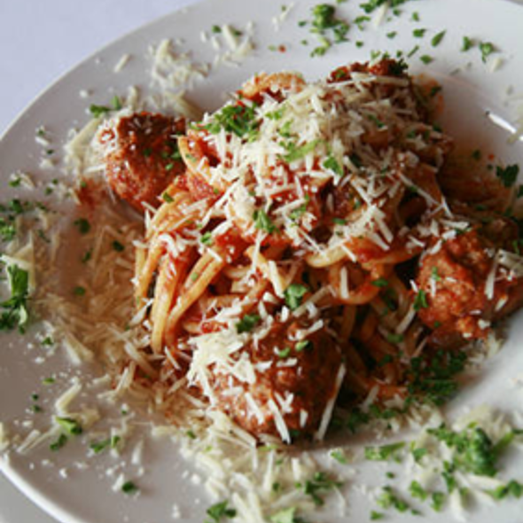 Spaghetti With Meatballs - Iozzo's Garden of Italy, Indianapolis, IN