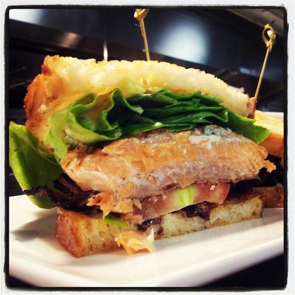Salmon BLT | peppered bacon + beefsteak tomato + bibb lettuce - Kelvin, San Diego, CA